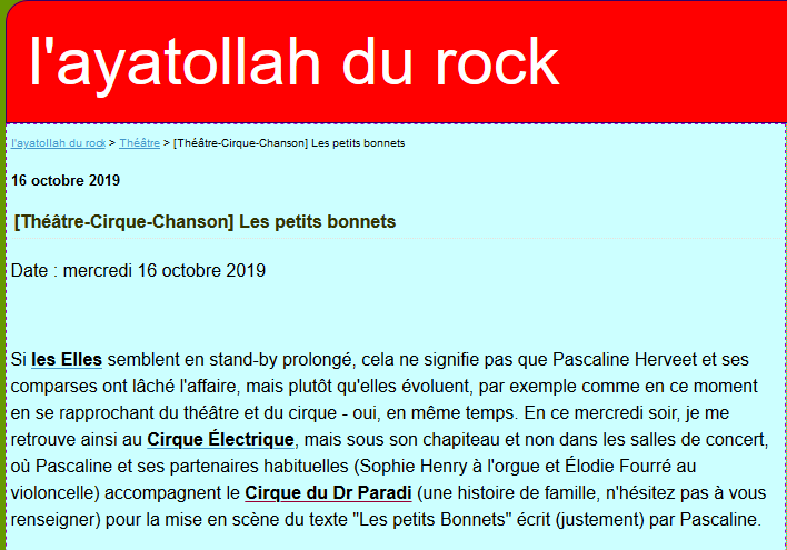 Article L'Ayatollah du rock