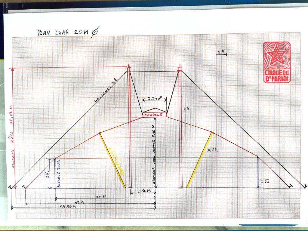Plan Chapiteau 20m